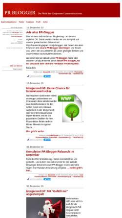 Vorschau der mobilen Webseite klauseck.typepad.com, PR Blogger