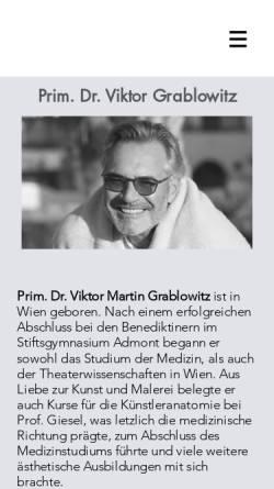 Vorschau der mobilen Webseite www.grablowitz.at, Medizinisch ästhetisches Zentrum Dr. Grablowitz