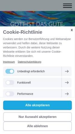Vorschau der mobilen Webseite www.christlichewissenschaft.org, Christian Science Kirchen und Vereinigungen in Berlin