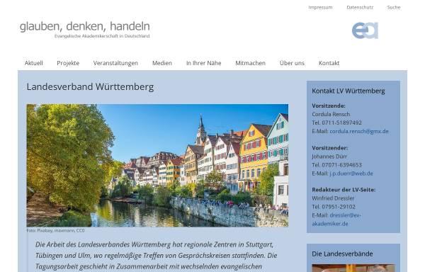 Vorschau von www.ev-akademiker.de, Evangelische Akademikerschaft Landesverband Württemberg