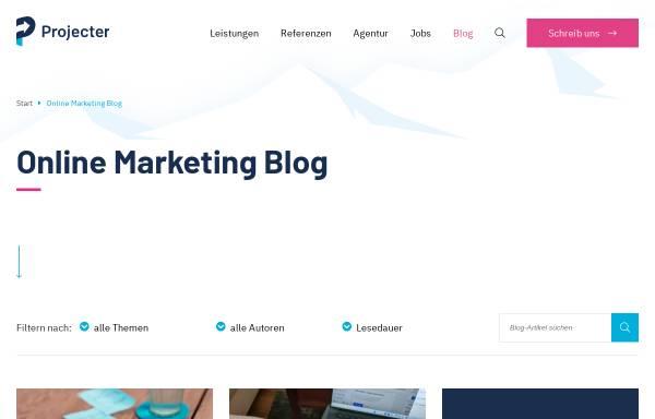 Vorschau von www.projecter.de, Projecter Online Marketing