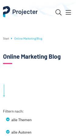 Vorschau der mobilen Webseite www.projecter.de, Projecter Online Marketing