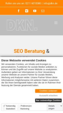 Vorschau der mobilen Webseite www.dkn.de, DKN. GmbH & Co.KG