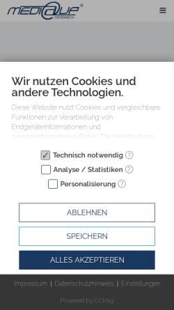 Vorschau der mobilen Webseite www.mediaup.de, MediaUp Crossmedia