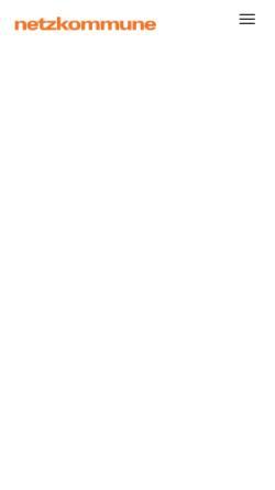 Vorschau der mobilen Webseite www.netzkommune.de, Netzkommune GmbH