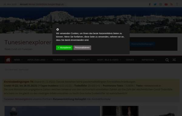 Vorschau von www.ferien-in-tunesien.de, Ferien in Tunesien