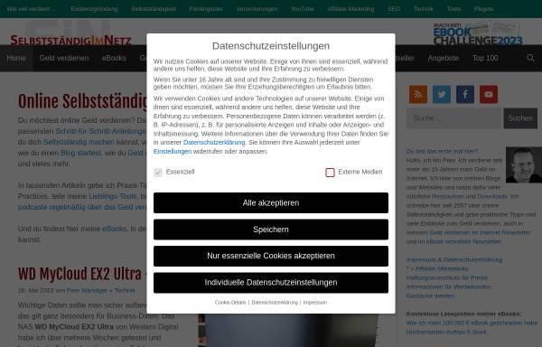 Vorschau von www.selbstaendig-im-netz.de, Selbständig im Internet