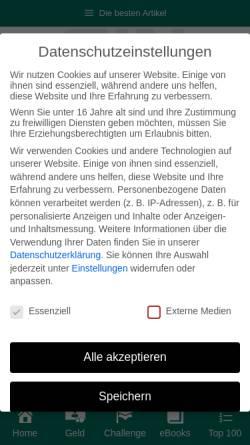 Vorschau der mobilen Webseite www.selbstaendig-im-netz.de, Selbständig im Internet