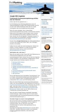 Vorschau der mobilen Webseite seo-marketing-blog.de, SEO Blog, Frank Schräpler