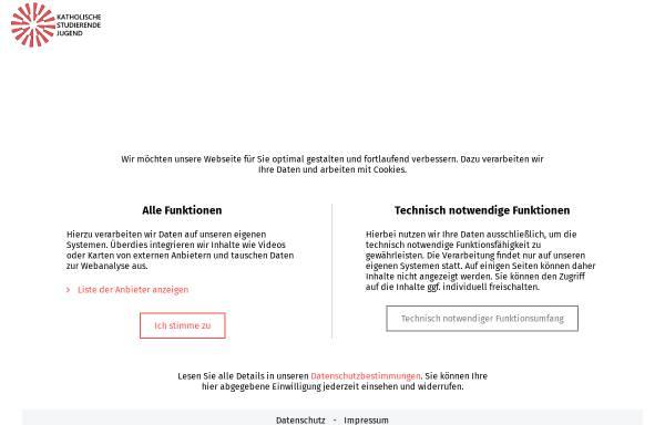 Vorschau von www.ksj.de, Katholische Studierende Jugend (KSJ) - Bundesverband
