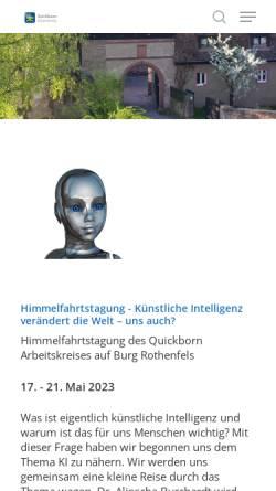 Vorschau der mobilen Webseite www.quickborn-ak.de, Quickborn-Arbeitskreis