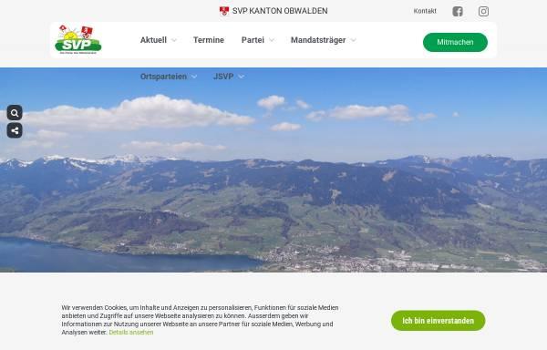 Vorschau von www.svp-ow.ch, Schweizerische Volkspartei Obwalden - SVP