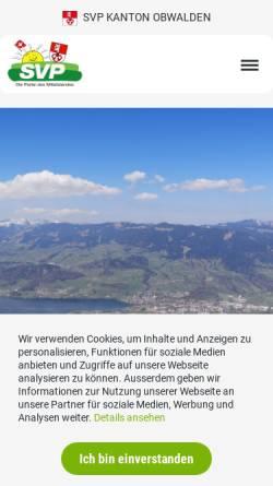 Vorschau der mobilen Webseite www.svp-ow.ch, Schweizerische Volkspartei Obwalden - SVP
