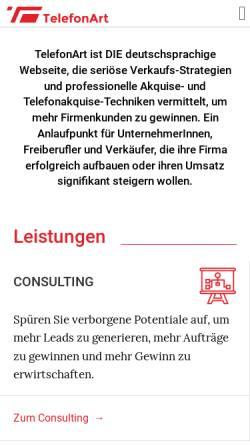 Vorschau der mobilen Webseite blog.telefonart.de, Das Telefon-Tagebuch