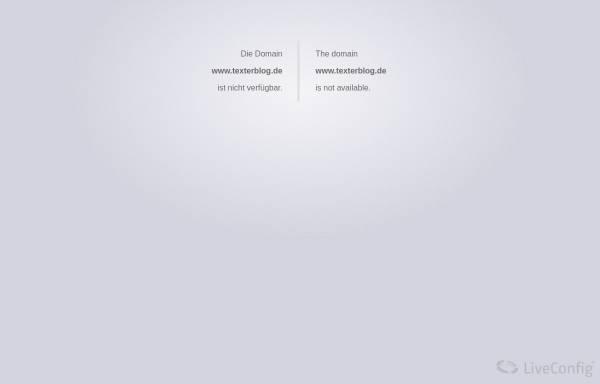 Vorschau von www.texterblog.de, Texterblog.de