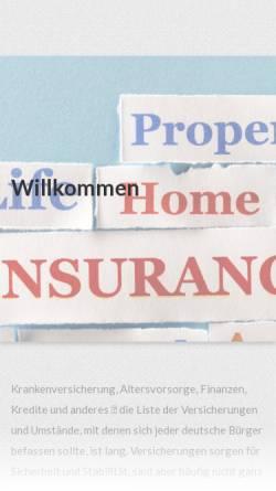 Vorschau der mobilen Webseite www.arnoldvogt.de, AXA Versicherungen AG, Geschäftsstelle Arnold Vogt e.K.