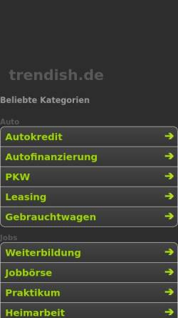 Vorschau der mobilen Webseite www.trendish.de, Trendish