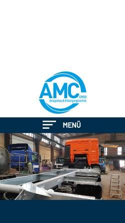 Vorschau der mobilen Webseite www.amc-guetting.de, AMC Anlagen- und Metallbau Gütting GmbH & Co. KG