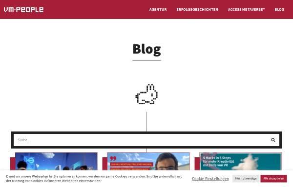 Vorschau von www.vm-people.de, Viral Marketing Blog - VM People GmbH