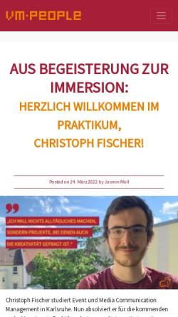 Vorschau der mobilen Webseite www.vm-people.de, Viral Marketing Blog - VM People GmbH