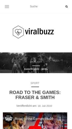 Vorschau der mobilen Webseite www.viralbuzz.de, Viralbuzz.de