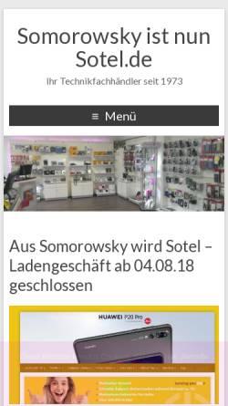 Vorschau der mobilen Webseite www.somorowsky.de, Heiko und Dieter Somorowsky GbR