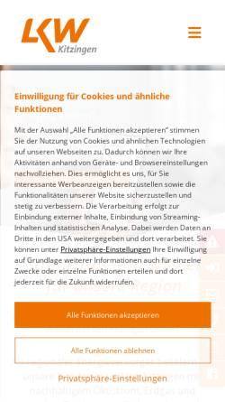 Vorschau der mobilen Webseite www.lkw-kitzingen.de, Licht-, Kraft- und Wasserwerke Kitzingen GmbH