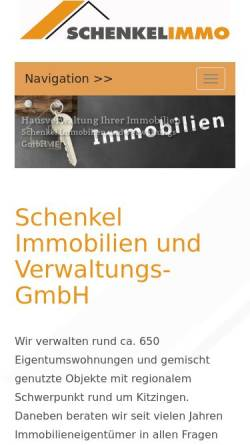 Vorschau der mobilen Webseite www.schenkel.de, Schenkel Wohnbau GmbH