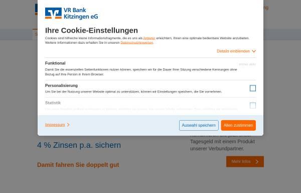 Vorschau von www.vrbankkitzingen.de, VR Bank Kitzingen eG