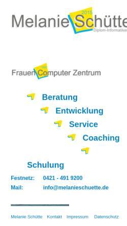 Vorschau der mobilen Webseite www.frauencomputerzentrum.de, Frauen Computer Zentrum Bremen