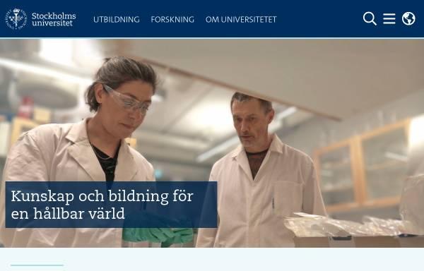 Vorschau von www.su.se, Universität Stockholm - Stockholms universitet