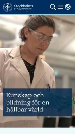 Vorschau der mobilen Webseite www.su.se, Universität Stockholm - Stockholms universitet