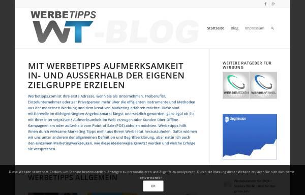 Vorschau von www.werbetipps-blog.com, WerbeTipps Blog