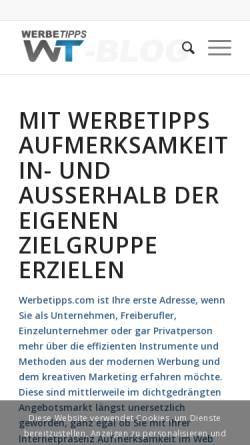 Vorschau der mobilen Webseite www.werbetipps-blog.com, WerbeTipps Blog