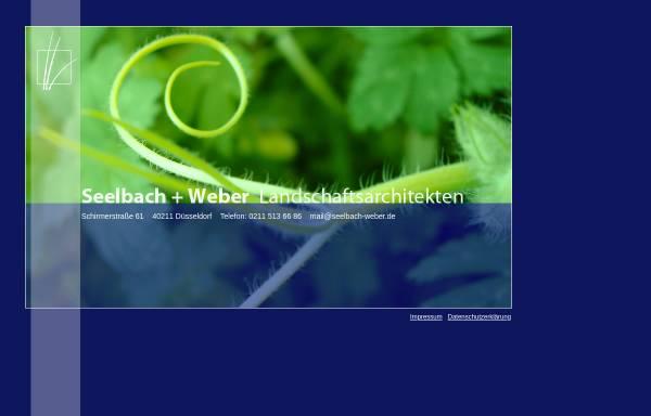 Vorschau von www.seelbach-weber.de, Seelbach + Weber Landschaftsarchitektur