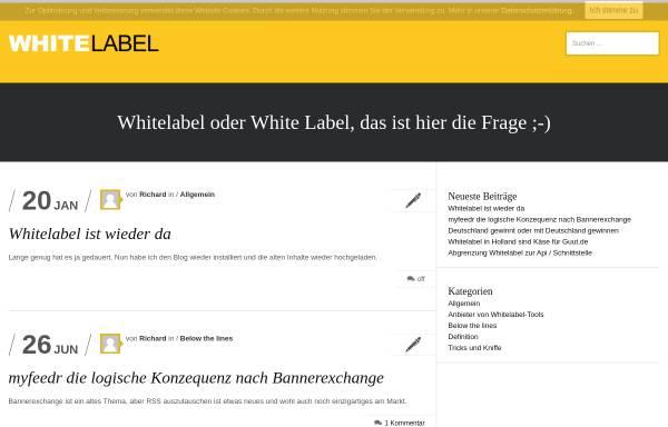 Vorschau von www.whitelabel.de, Whitelabel