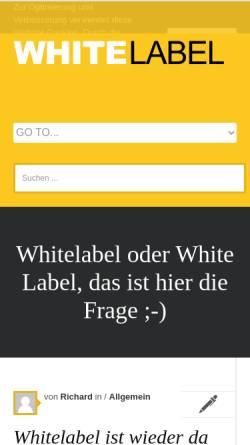 Vorschau der mobilen Webseite www.whitelabel.de, Whitelabel