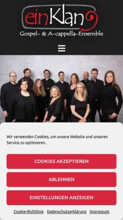 Vorschau der mobilen Webseite www.einklang-aachen.de, einKlang
