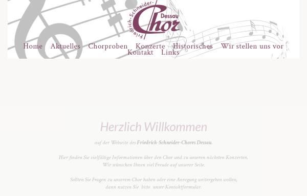 Vorschau von www.friedrich-schneider-chor.de, Friedrich-Schneider-Chor Dessau