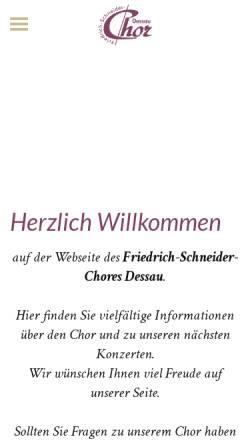 Vorschau der mobilen Webseite www.friedrich-schneider-chor.de, Friedrich-Schneider-Chor Dessau