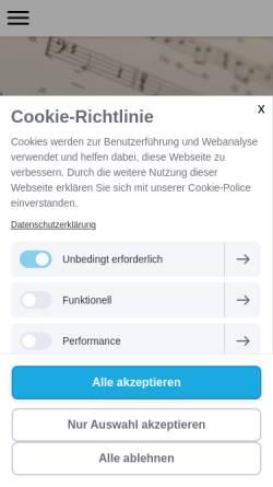 Vorschau der mobilen Webseite www.hautnah-voiceart.de, Hautnah Voice Art