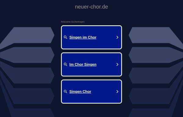 Vorschau von www.neuer-chor.de, Der Neue Chor der Stadt Bochum