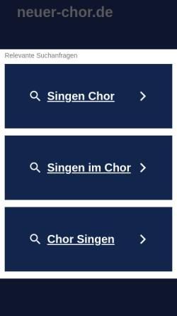 Vorschau der mobilen Webseite www.neuer-chor.de, Der Neue Chor der Stadt Bochum