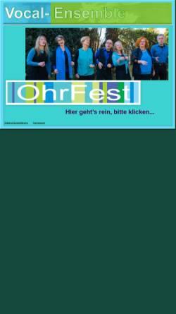 Vorschau der mobilen Webseite www.ohrfest.de, Ohrfest