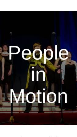 Vorschau der mobilen Webseite people-in-motion.de, People in Motion und Liederkranz Heldenfingen
