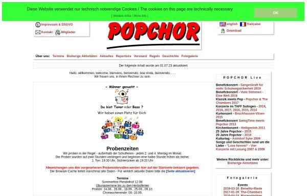 Vorschau von www.popchor.de, Popchor Syke