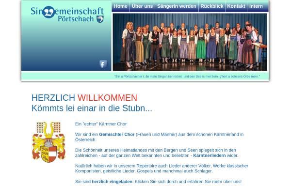 Vorschau von www.sgpoertschach.at, Singgemeinschaft Pörtschach