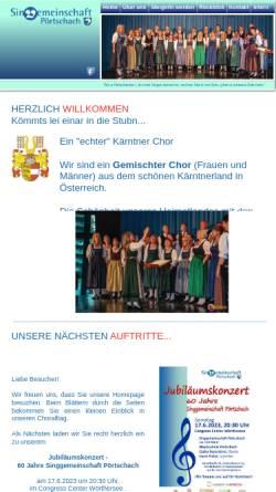 Vorschau der mobilen Webseite www.sgpoertschach.at, Singgemeinschaft Pörtschach