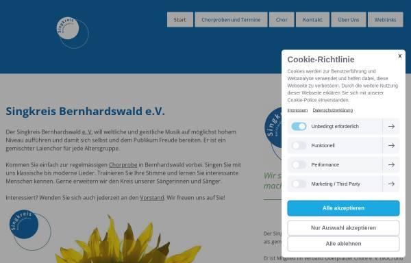 Vorschau von www.singkreis-bernhardswald.de, Singkreis Bernhardswald e. V.