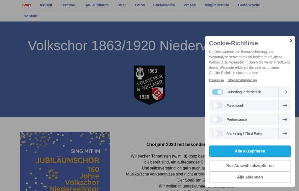 Vorschau von niedervellmarer-volkschor.jimdofree.com, Volkschor Niedervellmar